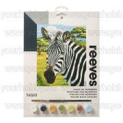 Reeves számozott kifestő - Afrikai zebra 23X30 cm