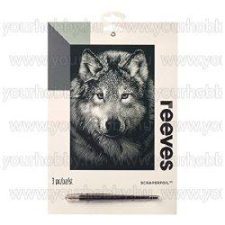 Reeves ezüst képkarcoló készlet - Farkas 20X25,5 cm
