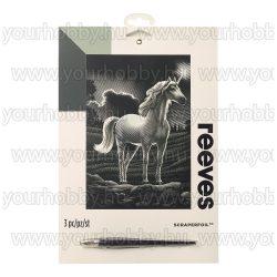 Reeves ezüst képkarcoló készlet - Unikornis 20x25,5 cm