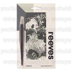 Reeves ezüst képkarcoló készlet -  Panda 11X18 cm