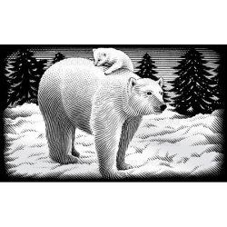 Reeves ezüst képkarcoló készlet - Jegesmedve 11X18 cm