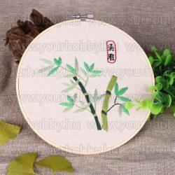 Hímzőráma készlet, Zöld bambusz 20 cm