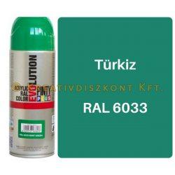 Pintyplus EVOLUTION fényes akril festék spray 200 ml Türkiz