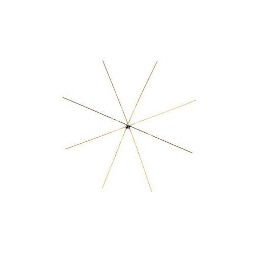 Drót csillagváz, arany színű / 4 db