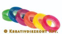 Ragasztószalag, 6 db, átlátszó színes