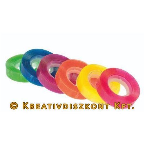 Ragasztószalag 6 db átlátszó színes