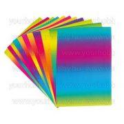 Színes papírtömb szivárvány, 35 x 50 cm / 50 db