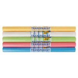 Transzparenspapír - pasztell színek, 5 tek.