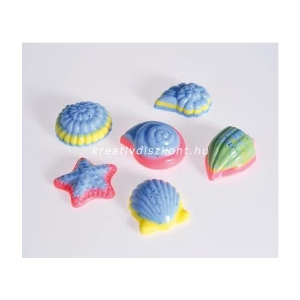 Szappanöntő forma, kagylók