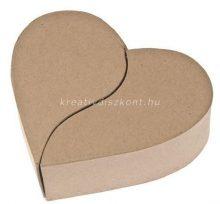 Préselt papírdoboz, hasított szív
