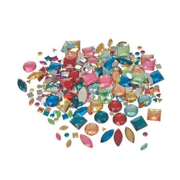 Ékszerkő csomag, színes 1000 db