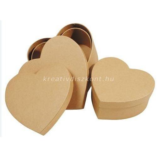 Szív papírdoboz, 3 részes