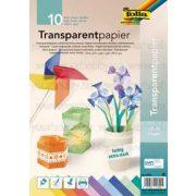 Transzparenspapír, A4, extra erős, színes  /10 db
