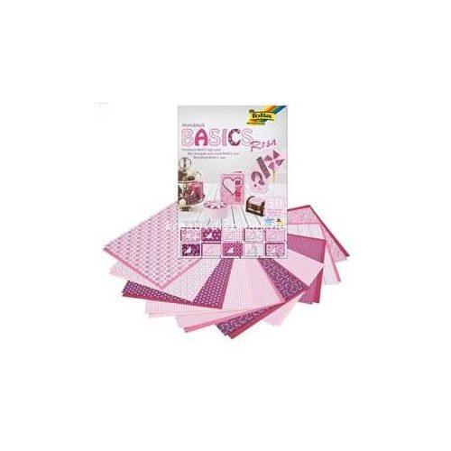 Mintás papírtömb, Basics - rózsaszín, 30 db