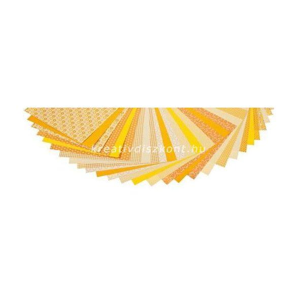 Mintás papírtömb, Basics - sárga 30 db