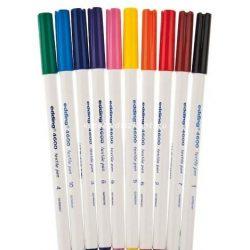 Textilfestő filctoll készlet, 10 db