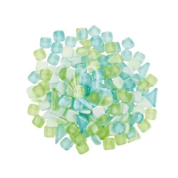 Sötétben világító mozaik - mix, 500 g zöld