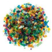 Luzy Acryl mozaiklapok 500 g, színes