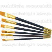 Ecsetkészlet, 6 darabos lapos arany-kék nyelű