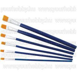 Ecsetkészlet,  6 darabos kék nyelű