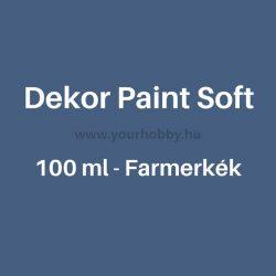 Pentart Dekor Paint Soft lágy dekorfesték 100 ml - farmerkék