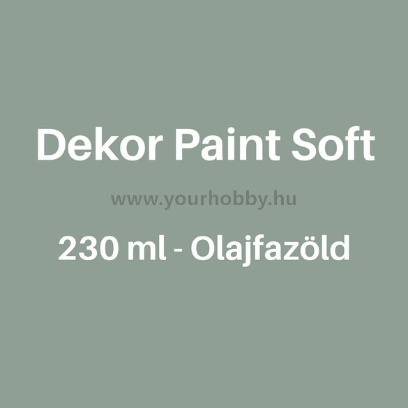 Pentart Dekor Paint Soft lágy dekorfesték 230 ml - olajfazöld