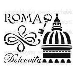 Stamperia Stencil 20x15 cm Róma KSD122