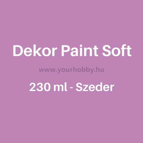 Pentart Dekor Paint Soft lágy dekorfesték 230 ml - szeder