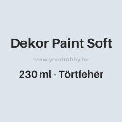 Pentart Dekor Paint Soft lágy dekorfesték 230 ml - törtfehér