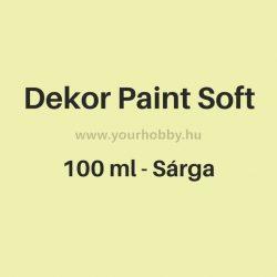 Pentart Dekor Paint Soft lágy dekorfesték 100 ml - sárga