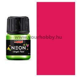 Neon akrilfestékek 4 szín 30 ml - pink