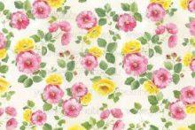 Dekupázs  rizspapír,  színes virágok   DFS206