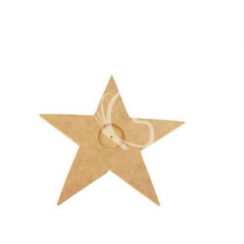 Csillag mécsestartó MDF 20x20 cm