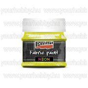 Pentart Neon Textilfesték 50 ml - Neonsárga