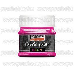 Pentart Neon Textilfesték 50 ml - Neonpink