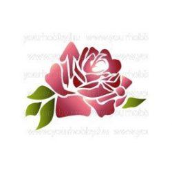 Stencil, rózsa  KSD208
