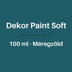 Pentart Dekor Paint Soft lágy dekorfesték 100 ml - méregzöld