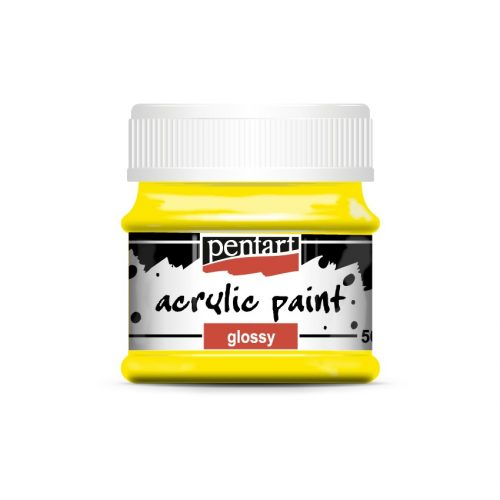 Pentart Fényes akrilfesték 50 ml - Sárga