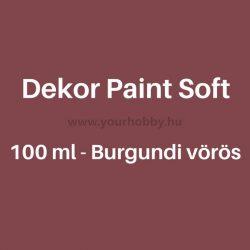 Pentart Dekor Paint Soft lágy dekorfesték 100 ml - burgundi vörös