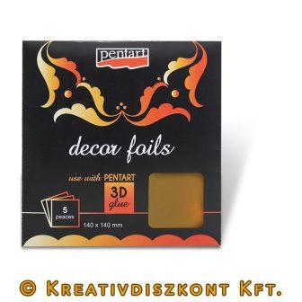 Dekorfóliák - metál 8 színben arany