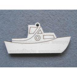 Fafigurák, hajó 3x7  cm