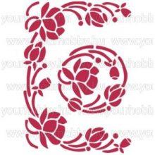 Stencil,  virág kompozíció  KSG79