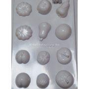 Gipszkiöntő forma, zöldségek 12 /3D