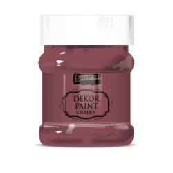 Pentart Dekor Paint Soft lágy dekorfesték 230 ml - burgundi vörös