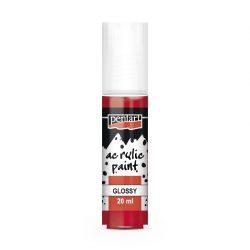 Pentart Fényes akrilfesték 20 ml - Piros