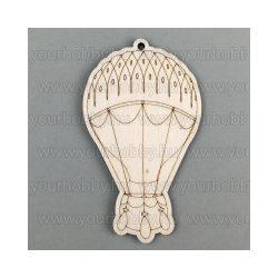 Fafigurák, hőlégballon 4,5x8 cm
