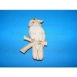 Fafigurák, papagáj 4,5x7,6 cm