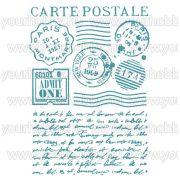 Stamperia stencil 21x29,7 cm Képeslap KSG393