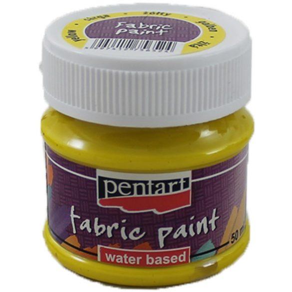 Textilfesték 25 szín 50 ml sárga