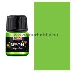 Pentart Neon akrilfesték 30 ml - Zöld